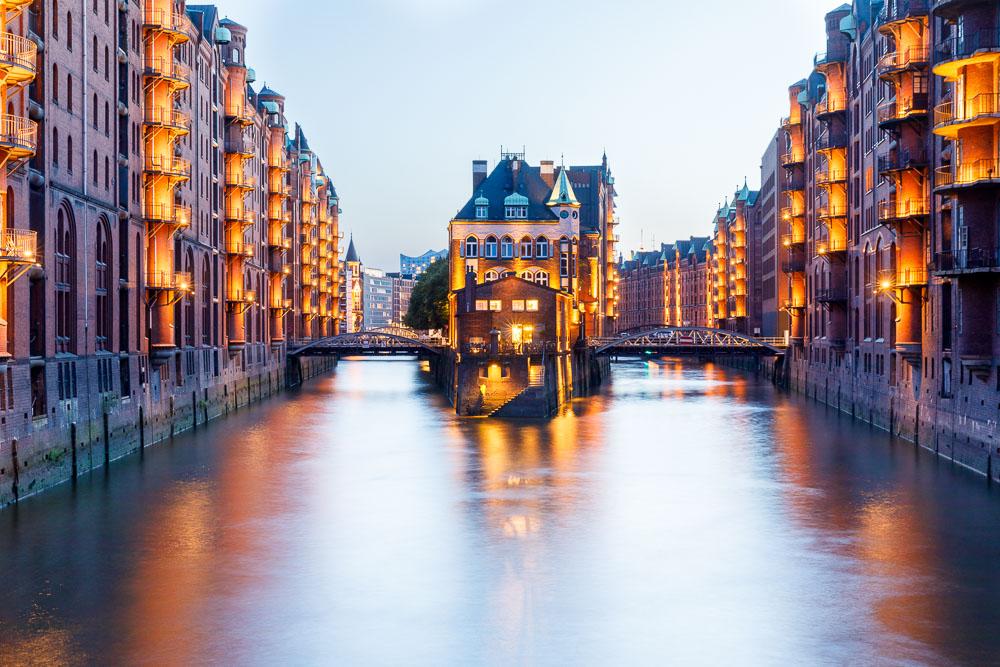 Hambourg: La Speicherstadt et le quartier de Kontorhaus avec la Chilehaus