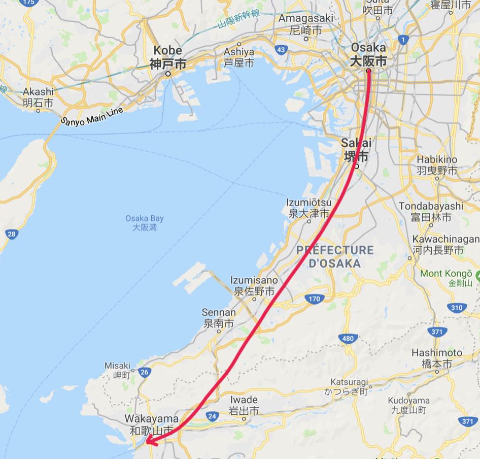 Wakayama city map