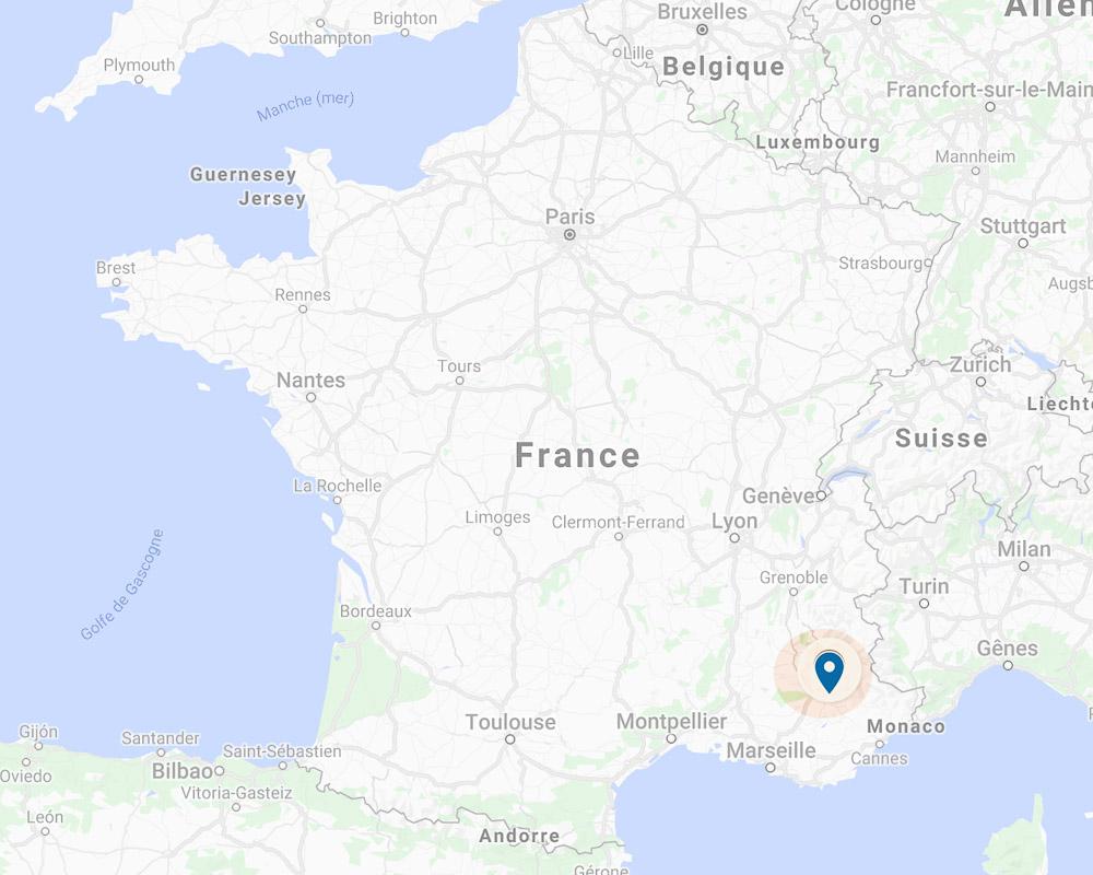Alpes de Haute Provence France map