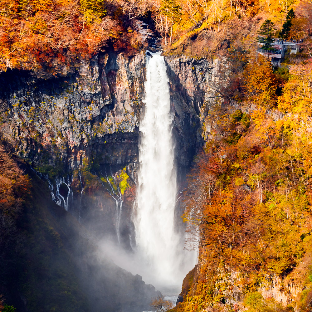 Japan nikko lake chuzenji momiji kegon falls