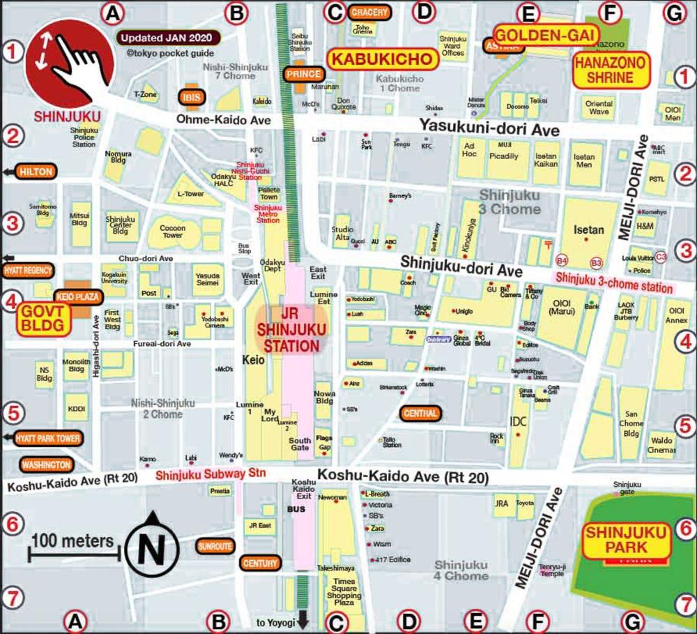 Japan Tokyo Shinjuku map Loic Lagarde 37