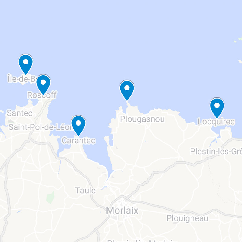 Baie de Morlaix Bretagne Finistere map 01
