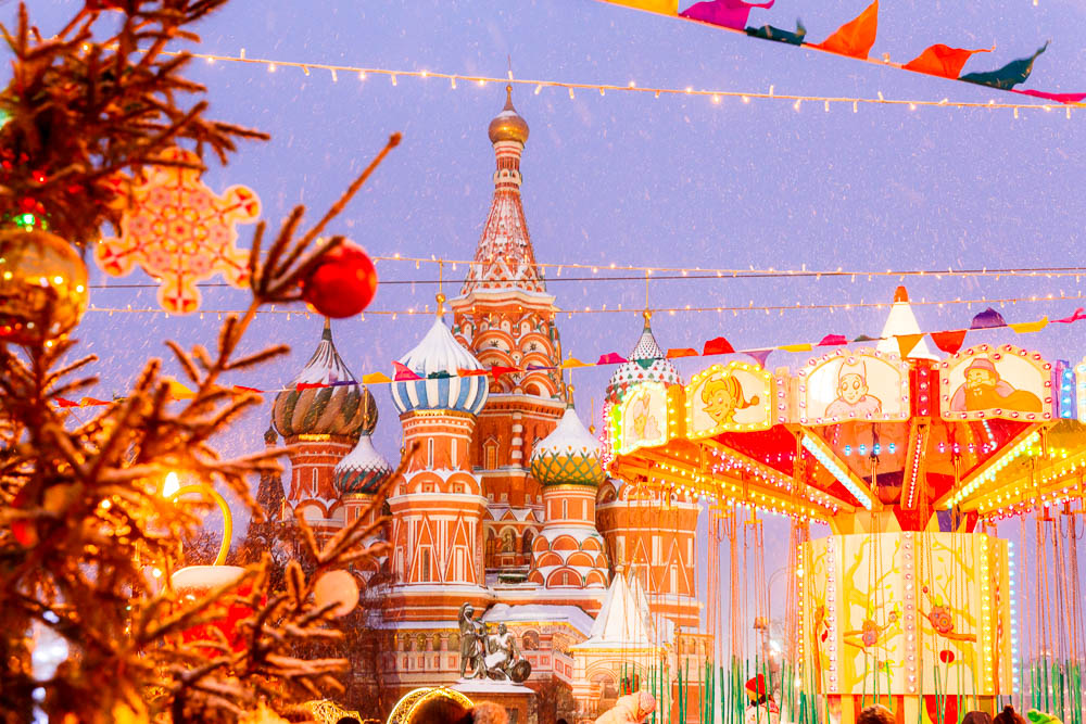 Christmas in Moscow in Russia - Noel a Moscou en Russie - Place Rouge
