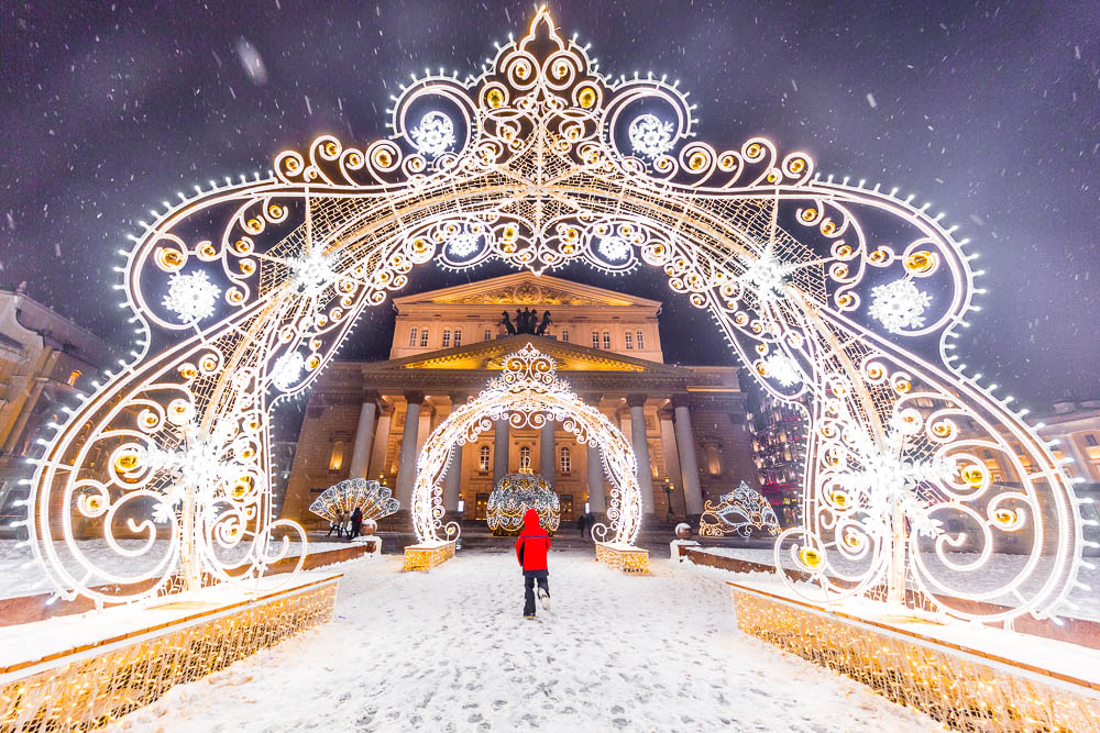 Christmas in Moscow in Russia - Noel a Moscou en Russie - Théâtre Bolchoï