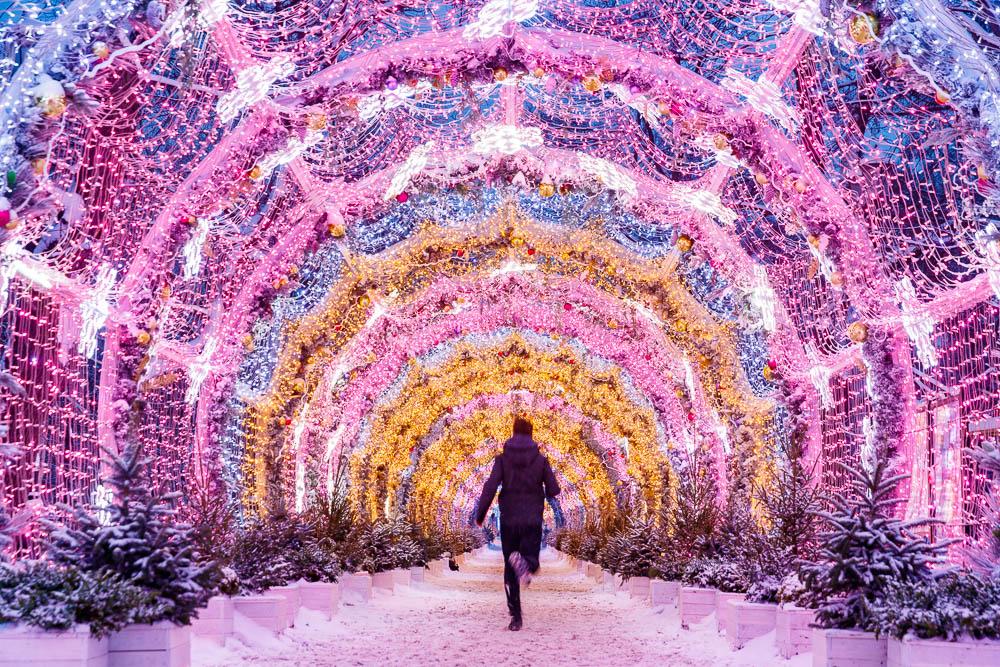 Christmas in Moscow in Russia - Noel a Moscou en Russie - Boulevard Tverskoï