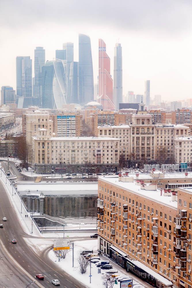 Christmas in Moscow in Russia - Noel a Moscou en Russie - Quartier de Kiev & Business Center