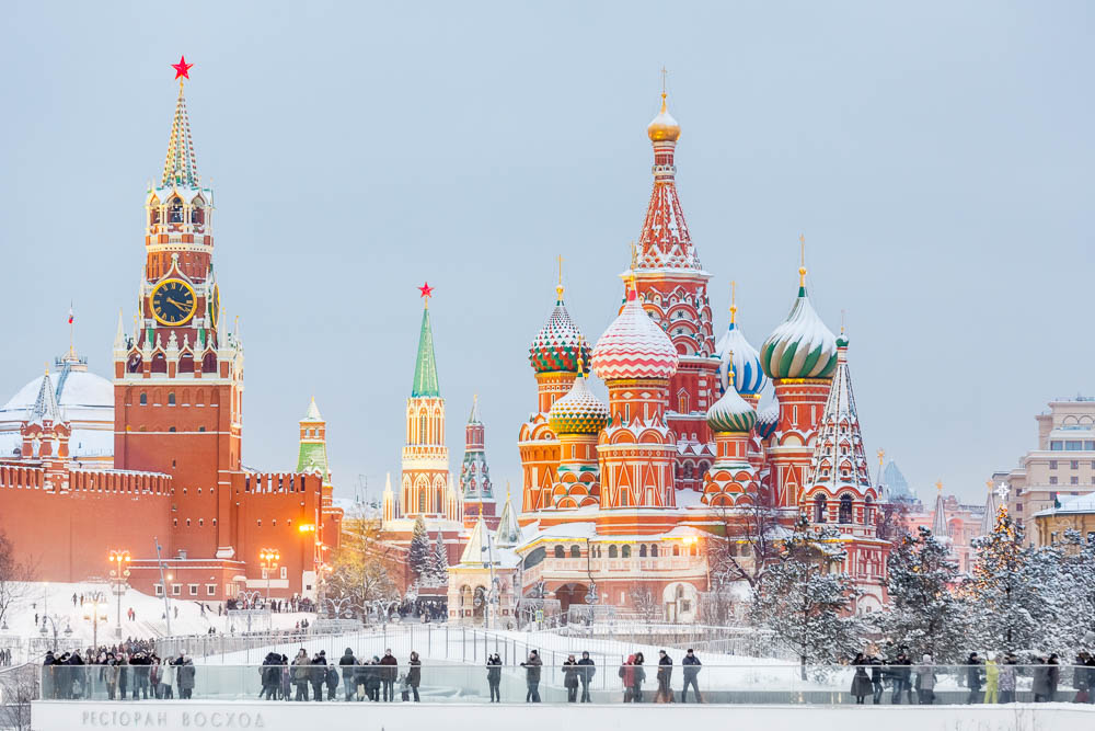Christmas in Moscow in Russia - Noel a Moscou en Russie