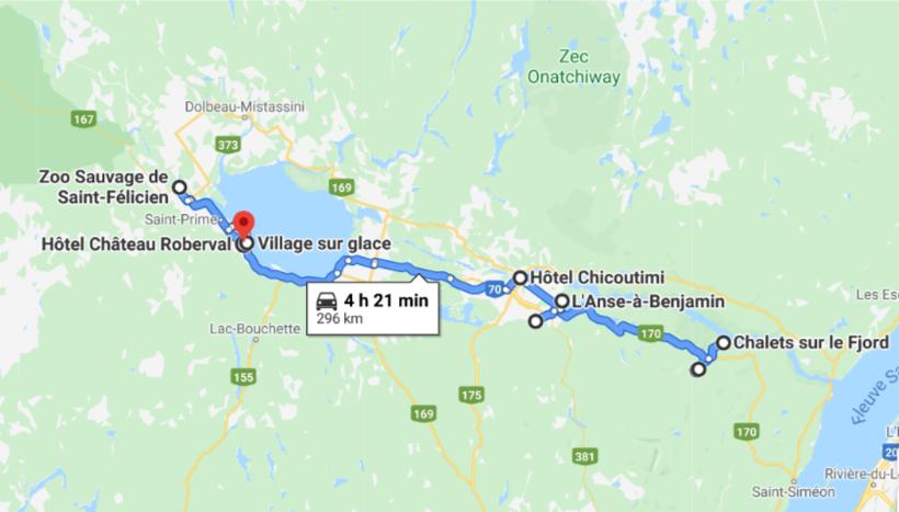 Carte Saguenais-Lac-Saint-Jean